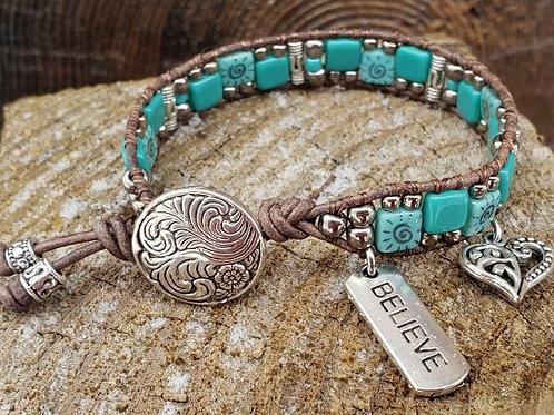 Czech Tile Bracelet #9