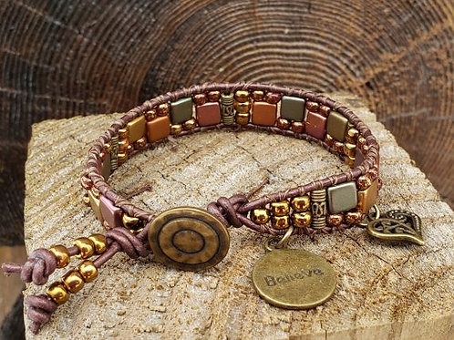Czech Tile Bracelet #13