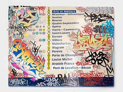 Yome - Plaque de métro