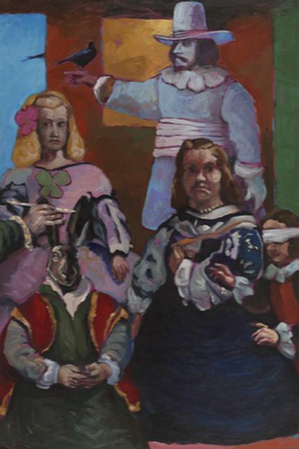Mikael Kerboas - Peinture de la Peinture / Le Lapin Roi