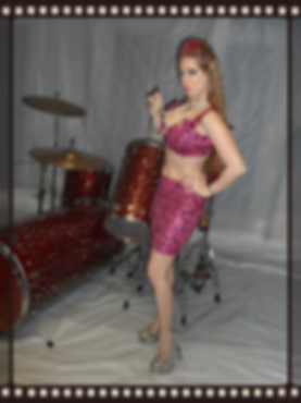 Pin up outfit pink sequin
