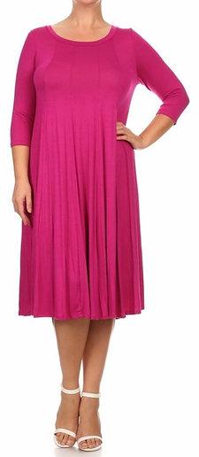 The Haley - Jewel Tones Swing Dress