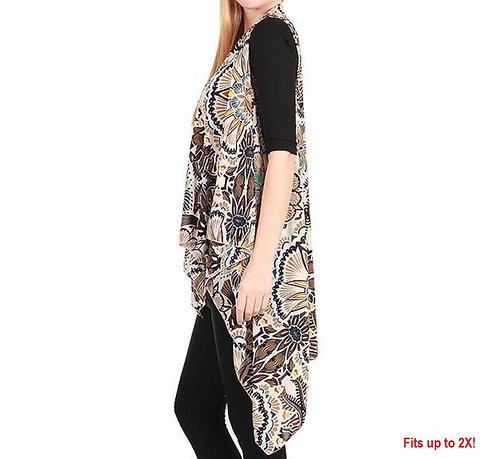 WH146 White Kaleidoscope Spandex Vest