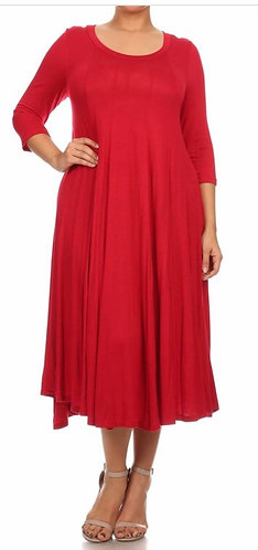 The Haley - Red Swing Dress