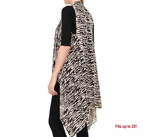 BK148 Black and tan Spandex vest