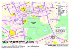 2020 GLASTONBURY TOWN CENTRE MAP - COLOU