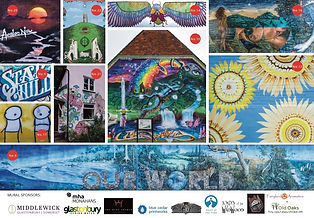 Glastonbury Mural Trail Leaflet a side e