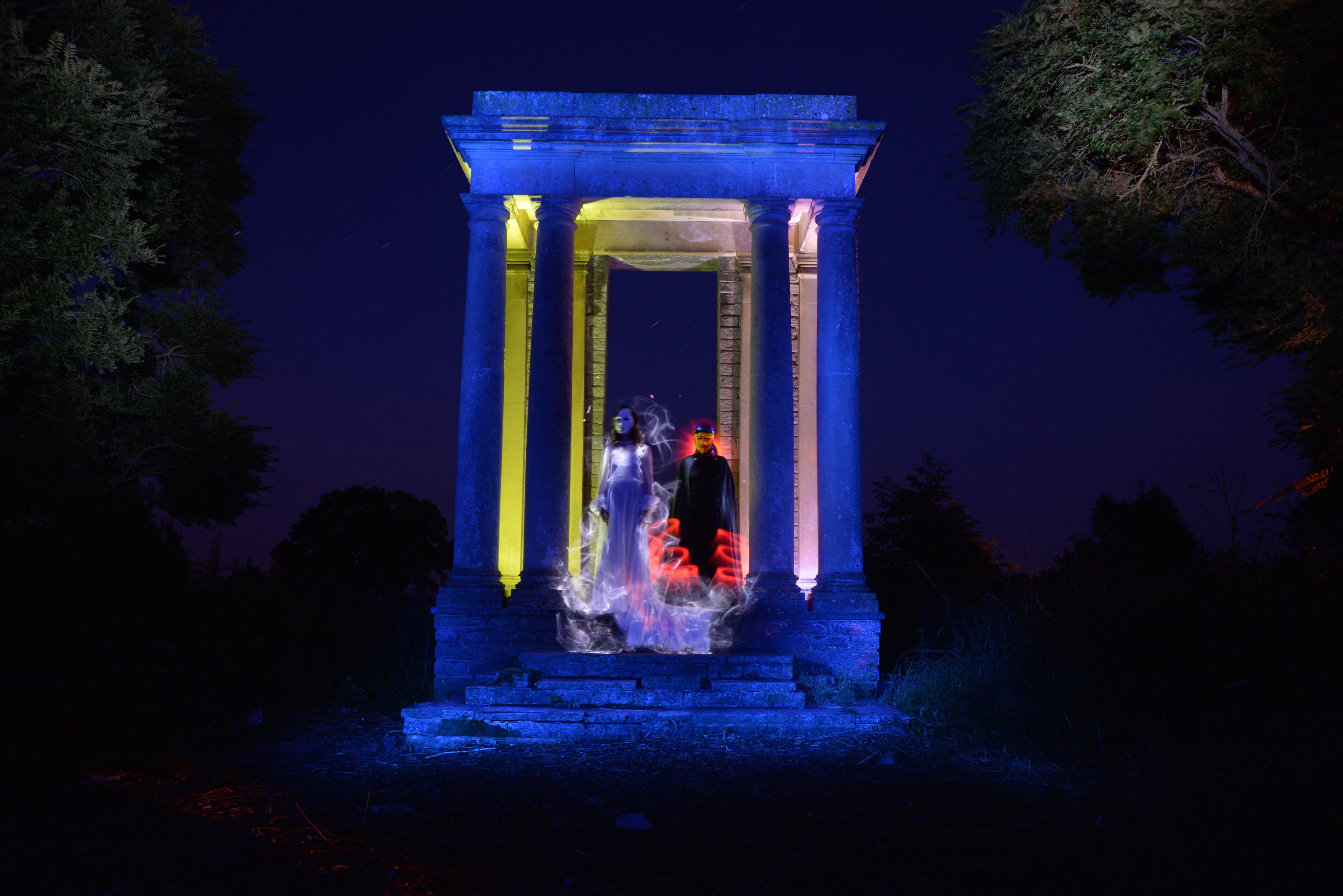 Light painting collab columns 05