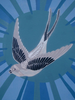 Swallow painting, Glastonbury