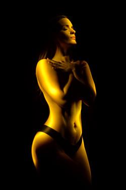 light painting portraityellow ella