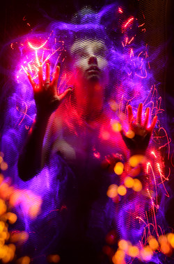 Maddy fibre optic light painting portrait 10
