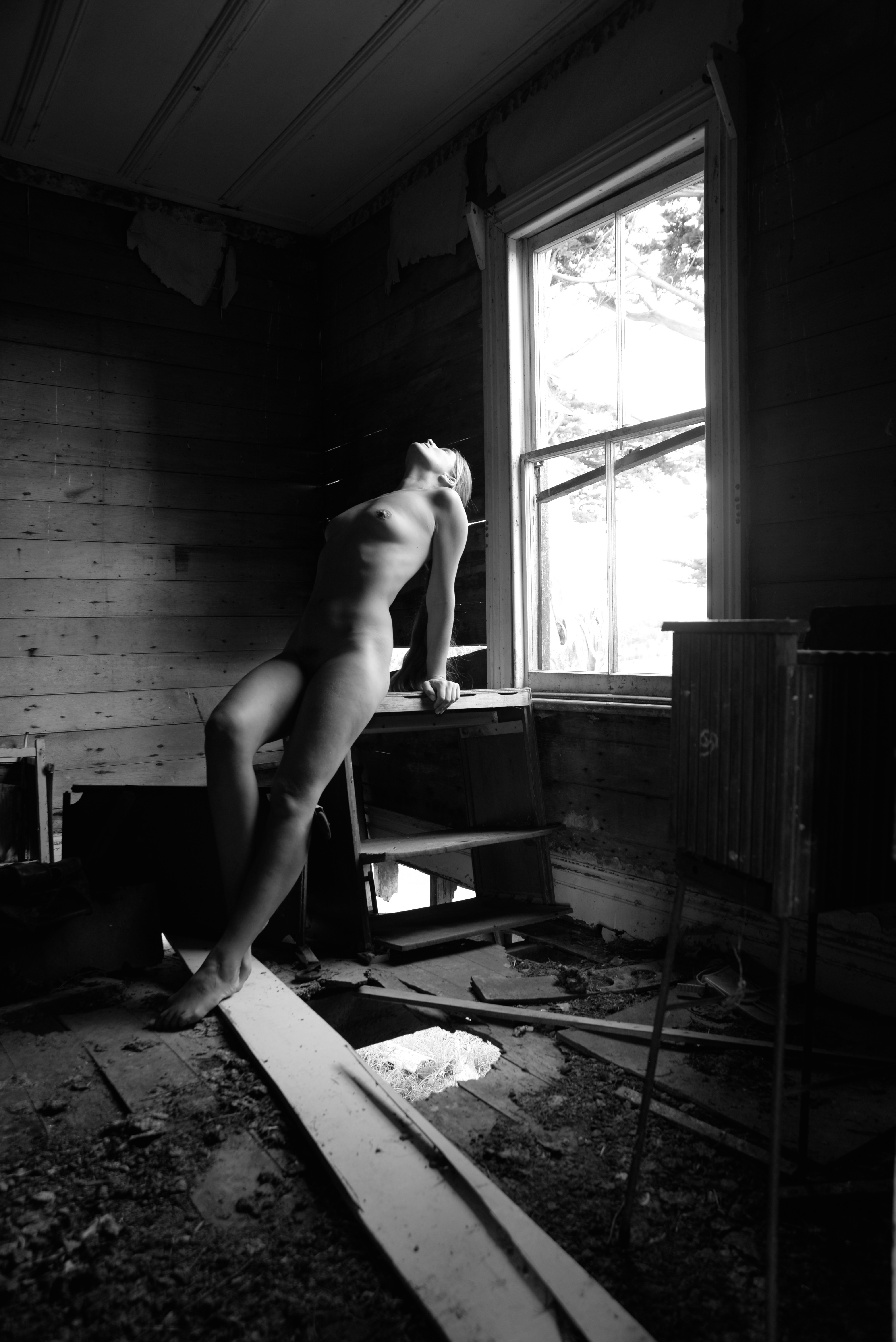 nude at window
