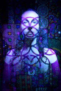 natsha stencil portrait sacred geometry