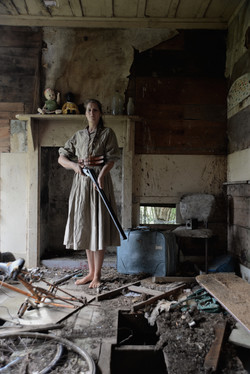 bretherin self portrait in derelict hous