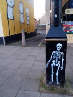 skeleton stencil, Glastonbury