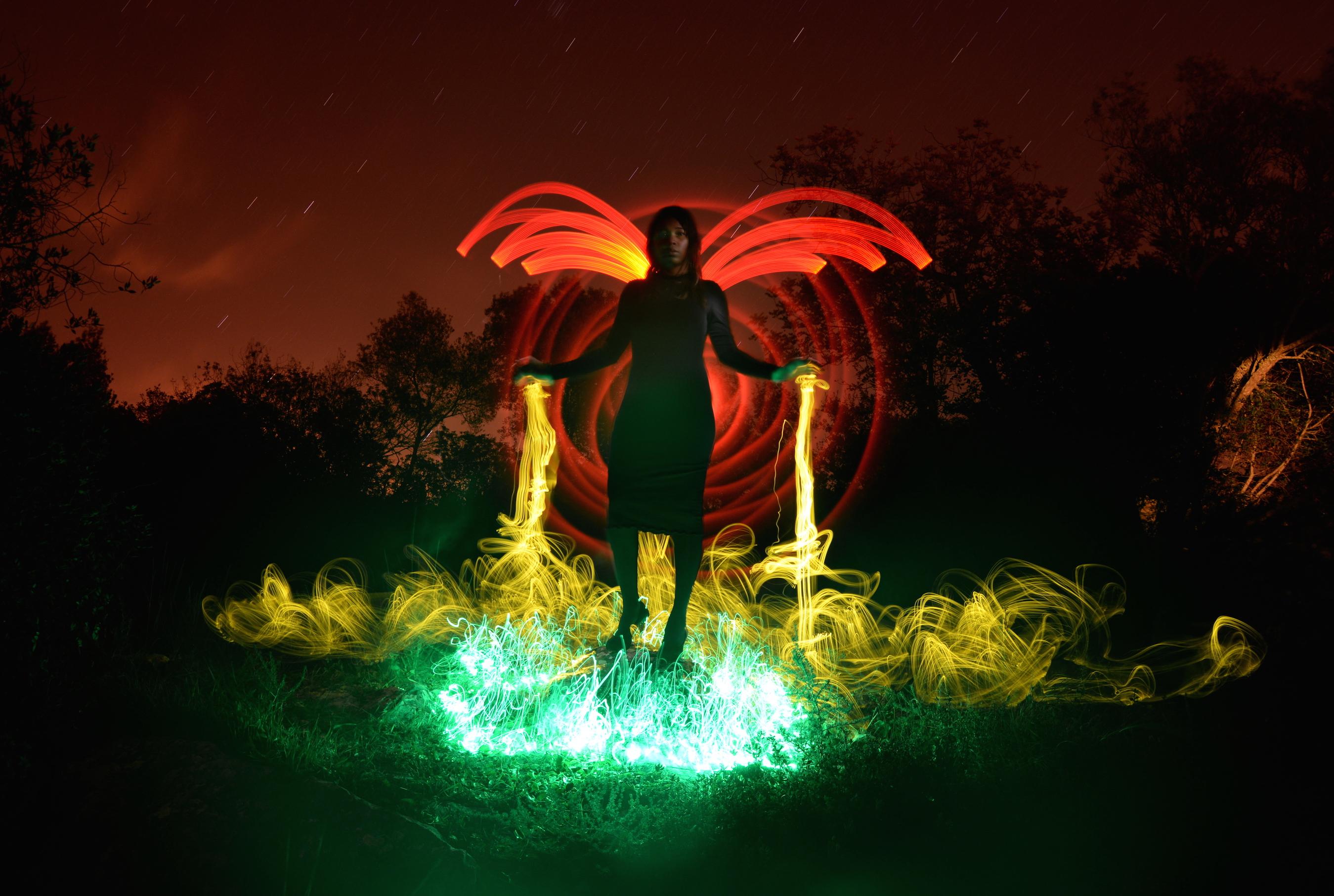 Tamara with wings