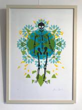 Skeleton on Blue