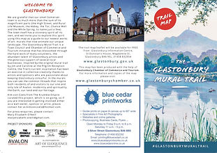 Glastonbury Mural Trail Leaflet cover