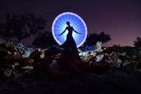 Sophie circle of light tube light painti