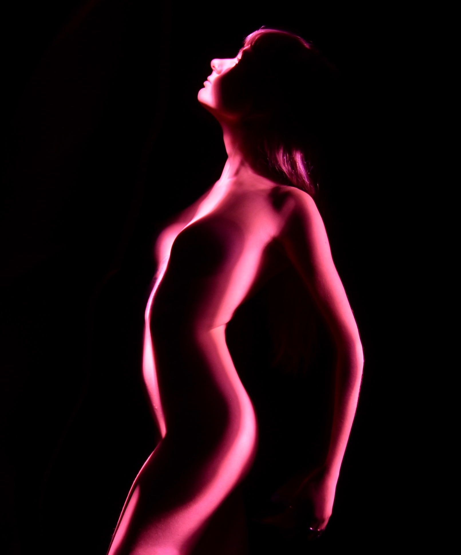pink maddy  light painting