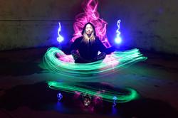 pilar meditation light painting