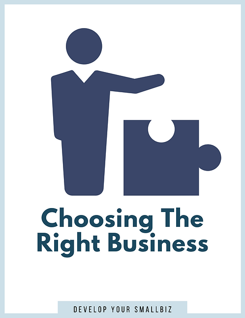 Choosing The Right Business (Worksheet)