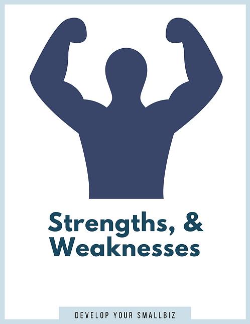 Strengths & Weaknesses (Worksheet)