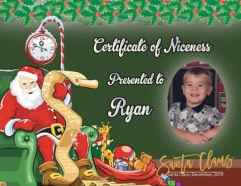 Personalized Certificate of Niceness