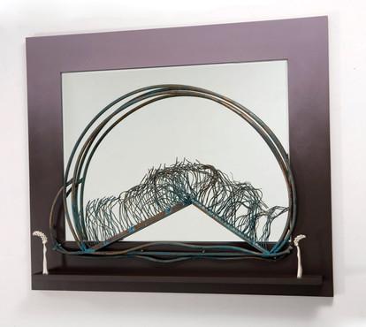 """Beyond The Horizon"". Wall mirror relief. 2005. 50"" x 65"" x 5""."