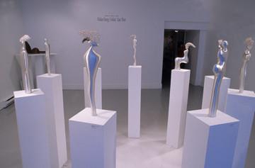 """Installation"". Figures. Silver."