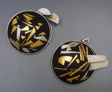 """""""Moonscape 1 & 2"""". Brooches. 1986. Collection."""