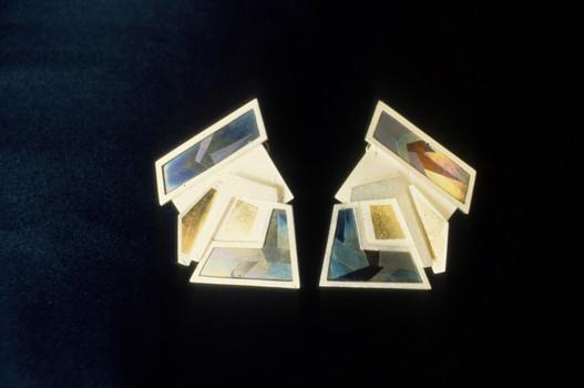 5. . Fieldscape 1, Earring Set, 1983, Pr