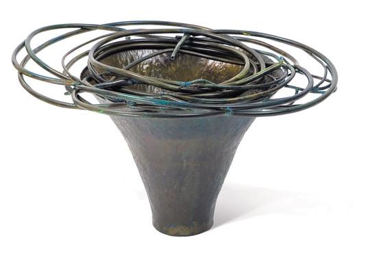 """""""Whirlpool"""". Vessel. 2007. Copper, patina. 30"""" x 30"""" x 25""""."""