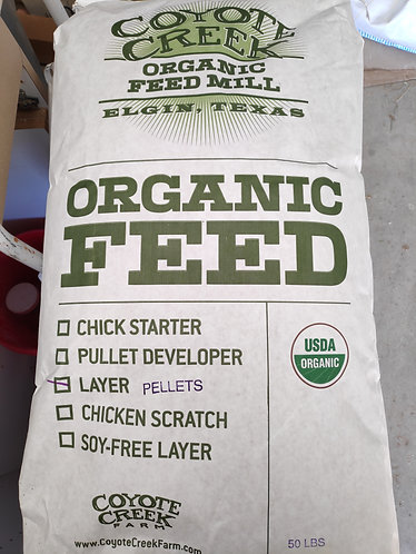 Layer Pellets - Certified Organic (50 lbs)