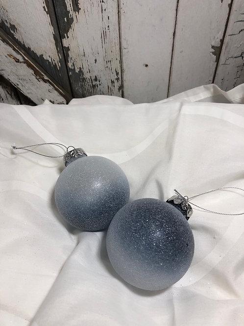 Blue Glitter Ornament