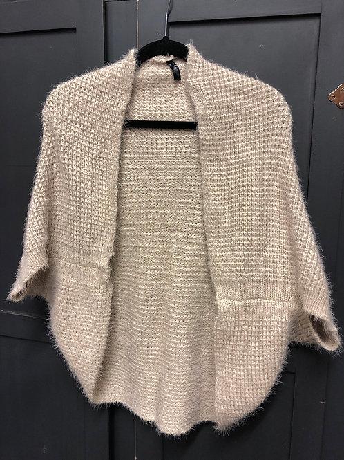 Beige Short Sleeved Cardigan
