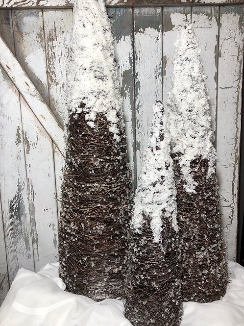 Natural Frosted Tree Set