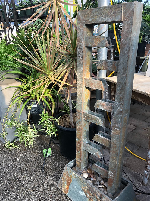 Tall Rustic Outdoor Fountain