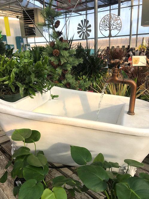 Bathtub Fountain with Planter