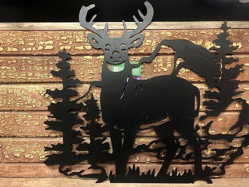 Metal Deer Wall Plaque