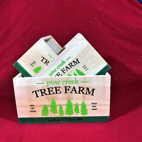 Tree Farm Box Planters