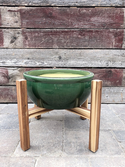 Green Jewel Toned Planter