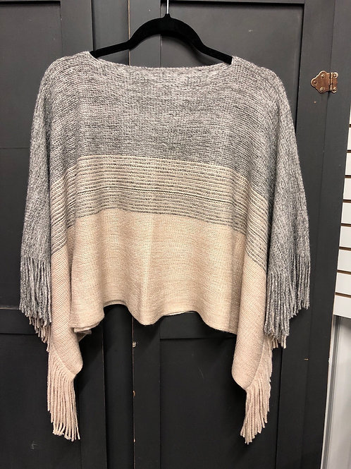 Grey to Tan Poncho