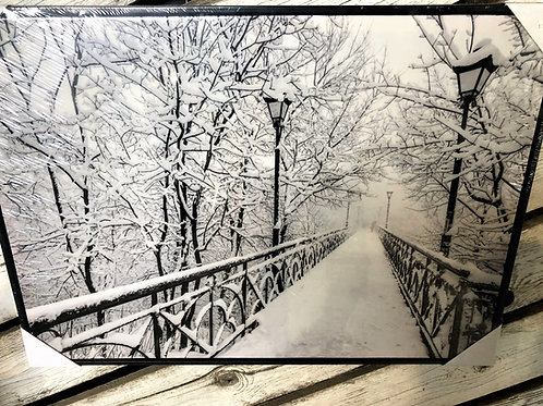 Snowy Bridge Picture