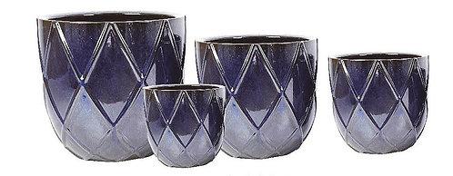 Diamond Shaped Glass Pot
