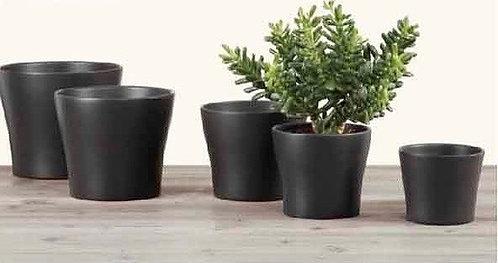'Anthrazit' Dark Brown Glass Pots