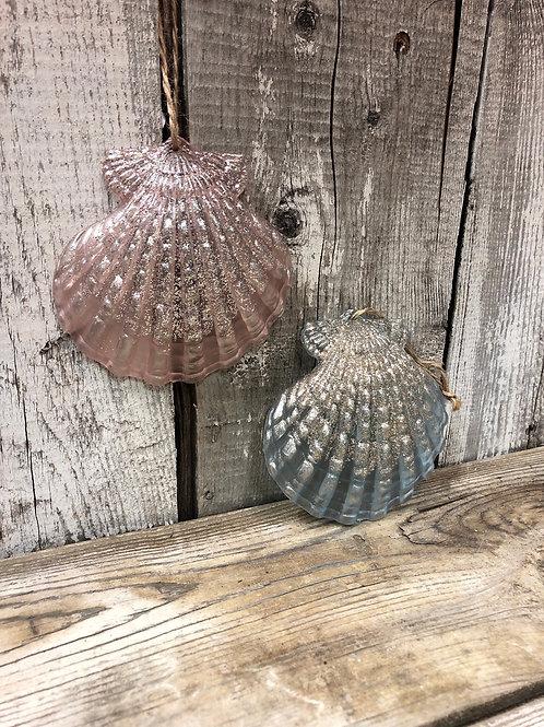 Glitter Shell Ornaments