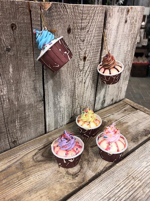 Mini Cupcake Ornaments