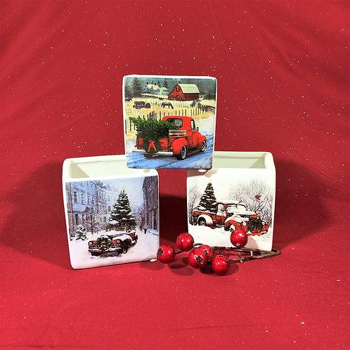 Holiday Cube Pots