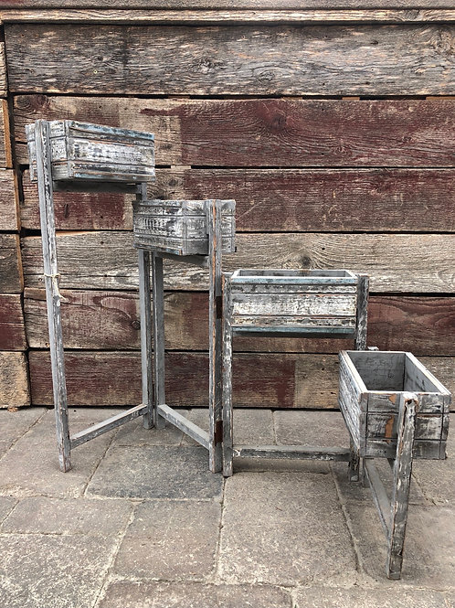 Rustic Wooden Planter Stand